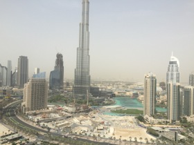 View over to (the lower part of) Burj Khalifa