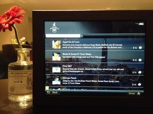 Gin and tonics on the Mandarin Oriental San Francisco's iPad