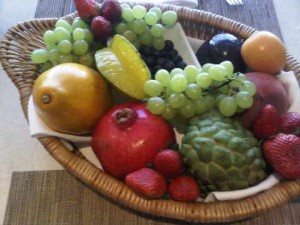 welcome fruit bowl at the Emiliano luxury hotel in Sao Paulo, Brazil