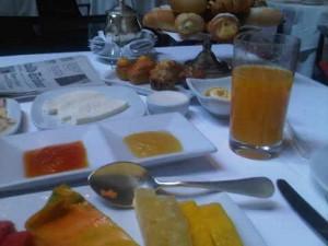 In-suite breakfast at the luxury Hotel Emiliano, Sao Paulo