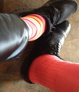 Red socks…
