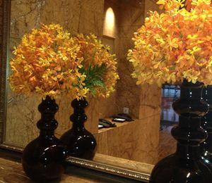 .. and orange flowers