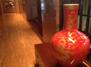 Orange vase …