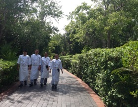 Some of the hotel's chef enroute to getting ready for yet another ILTM event