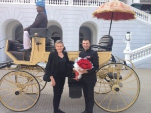 Girish Seghal welcomes a new guest to his palace