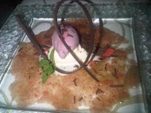 Fig carpaccio and ice-cream at the Kempinski Estepona luxury resort in Spain