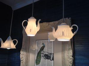 Teapots hang, in suite 707