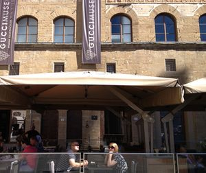 .. the Gucci Museum and its outdoor café