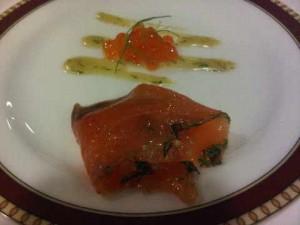A salmon amuse...