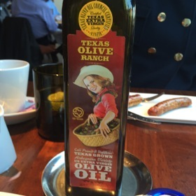Even the olive oil was local