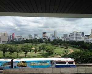 From 704, look over the Sky Train to the Royal Bangkok Sports Club