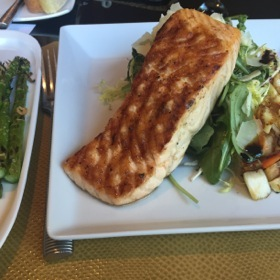 Salmon salad in the Bristol
