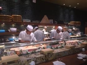 Nobu chefs beaver away