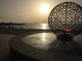 The water-side globe