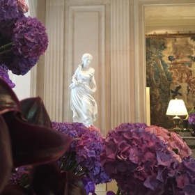 One of the four seasons sculptures in the lobby