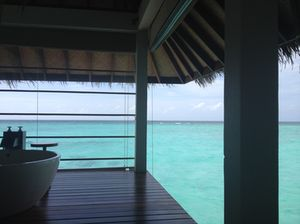 Over-water spa room