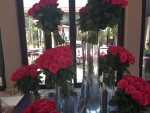 Roses in the lobby