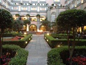 .. looking along the gorgeous inner-courtyard gardens