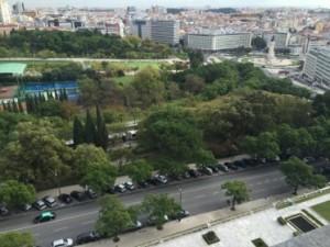 Look down to Parque Eduardo VII