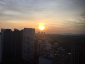 Sunset from room 1808