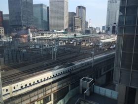 Looking straight down at Tokyo station