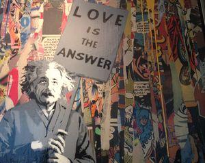 Albert Einstein, as depicted by Mr Brainwash