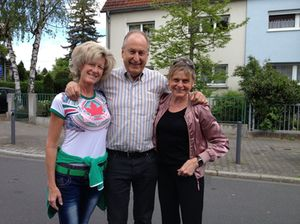 Armin Schroecker and his fiancée Anahid