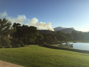 A bush fire welcome at La Residence