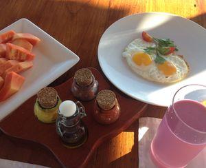 Breakfast on said deck
