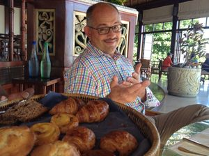 Wayne Kafcsak offers home-made breakfast pastries