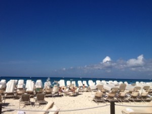 Beach chairs at the ready