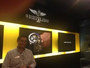 Kiko Vieira at Kirk Freeport's Breitling stand