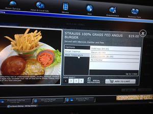 Burger on television…