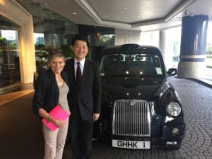 GM Philip Yu and his London taxi