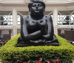 A Botero, about eight feet tall