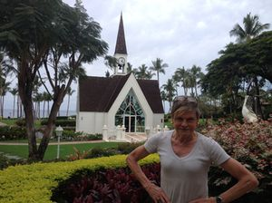 The hotel's working church, outside…