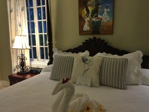 The bed in villa 78