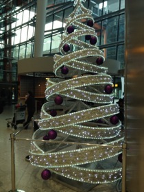 Heathrow Terminal Five's refined Christmas tree