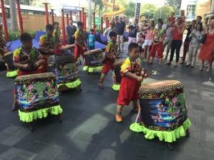 Nine boys a-drumming