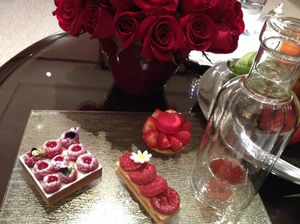 A symphony of strawberry, on arrival