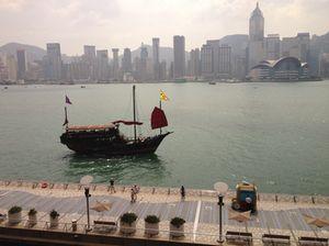 View back to Hong Kong Island from room 316, InterContinental Hong Kong