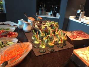 The executive club's foods, even at lunch, are marvellous
