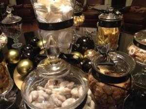 A table of bonbons awaits