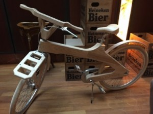 A wooden bike, from Greece