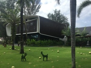 'Animals' move around the welcome lawn