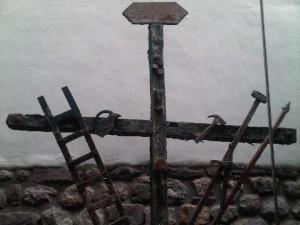 Sculpture at the restaurant of Inkaterra La Casona luxury hotel in Cusco