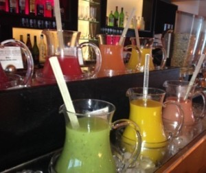 Fresh juices at Club breakfast