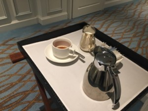 Complimentary wake-up coffee (or tea) service