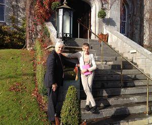 Mark Nolan at the entrance to Dromoland Castle