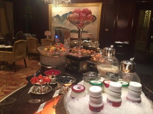 Horizon Club's buffet...